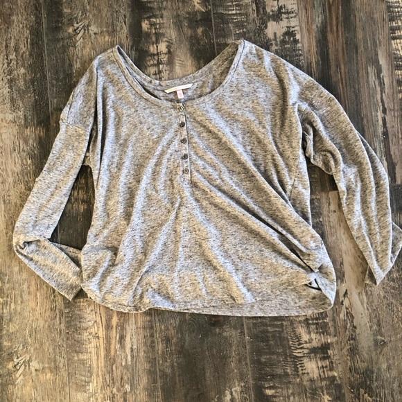 Victoria's Secret Tops - VS oversized heather grey light weigh top